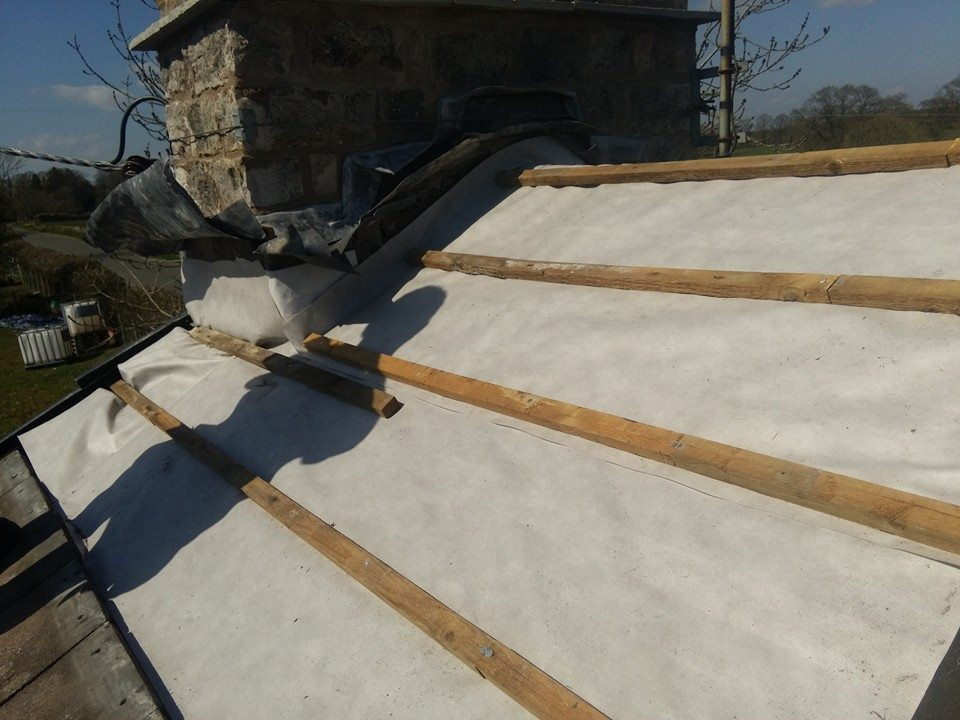 Roofing work by Procter Building Services